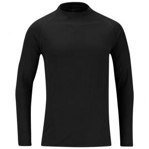 Propper sottomaglia per abbigliamento a strati in cotone di medio peso nero