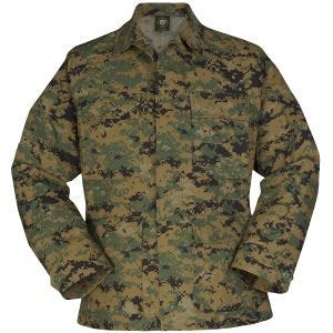 Propper giacca BDU Uniform in policotone Ripstop in Digital Wooland
