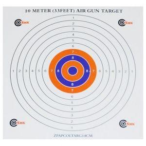 SMK bersagli in carta 14 cm con centro a colori (confezione da 100)