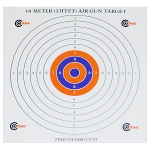 SMK bersagli in carta 17 cm con centro a colori (confezione da 100)