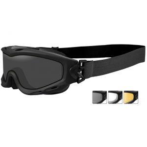 Wiley X occhiali protettivi Spear con lenti duali grigie fumé + trasparenti + ruggine chiaro e struttura in nero opaco