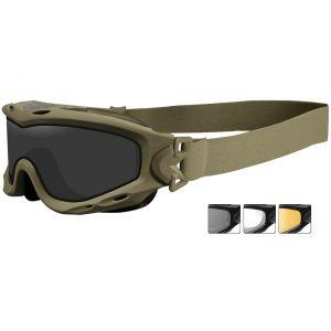 Wiley X occhiali protettivi Spear con lenti duali grigie fumé + trasparenti + ruggine chiaro e struttura in Tan opaco