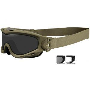 Wiley X occhiali protettivi Spear con lenti grigie fumé + trasparenti e struttura in Tan