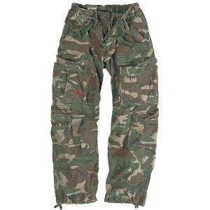 Surplus pantaloni vintage Airborne in Woodland