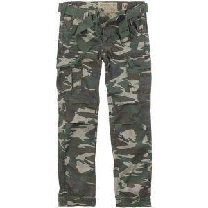 Surplus Premium Slimmy Trousers Woodland Washed