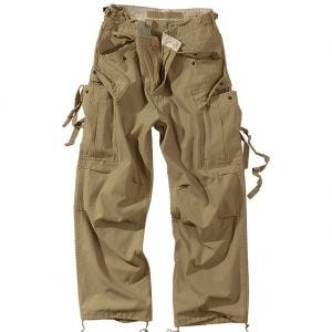Surplus pantaloni Vintage Fatigues in Coyote