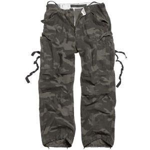 Surplus pantaloni Vintage Fatigues in Black Camo