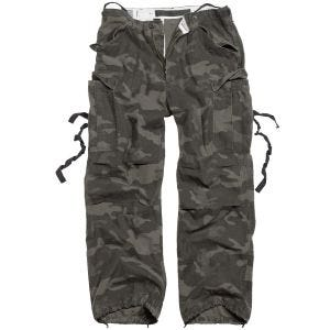 Surplus pantaloni Vintage Fatigues in Black Camo