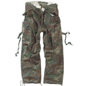 Surplus pantaloni Vintage Fatigues in Woodland