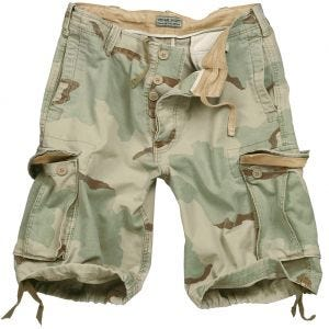 Surplus shorts vintage effetto slavato in Desert 3 colori