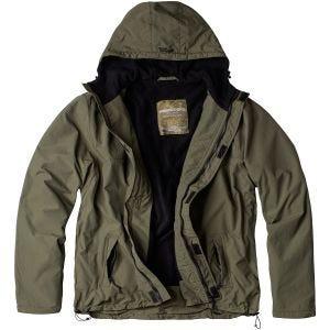 Surplus giacca a vento con zip in verde oliva