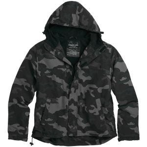 Surplus giacca a vento con zip in Black Camo