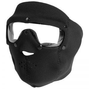 Swiss Eye maschera viso in neoprene con occhiali protettivi integrati in nero/lenti trasparenti