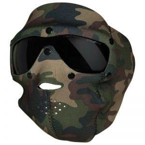 Swiss Eye maschera viso in neoprene con occhiali protettivi integrati in Woodland