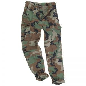 Teesar pantaloni BDU in ripstop prelavato in Woodland