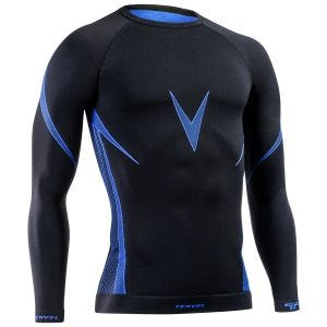 Tervel maglia a maniche lunghe Optiline in nero / blu