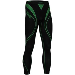 Tervel leggings da corsa Optiline in nero / verde