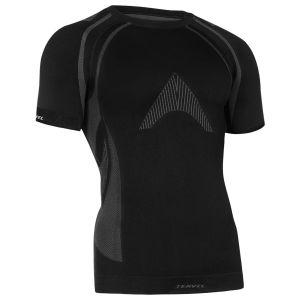 Tervel maglia a maniche corte Optiline MOD-02 in nero / grigio