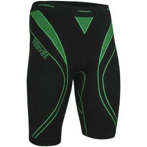 Tervel shorts da corsa Optiline in nero / verde