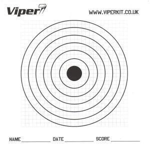 Viper bersagli in carta Pro 17 cm (confezione da 100)