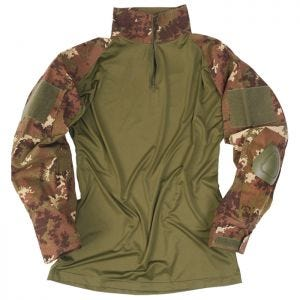 Mil-Tec maglia Warrior con gomitiere in Vegetato Woodland