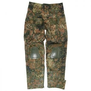 Mil-Tec pantaloni Warrior con ginocchiere in Flecktarn