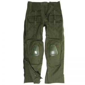 Mil-Tec pantaloni Warrior con ginocchiere in verde oliva