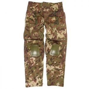 Mil-Tec pantaloni Warrior con ginocchiere in Vegetato Woodland