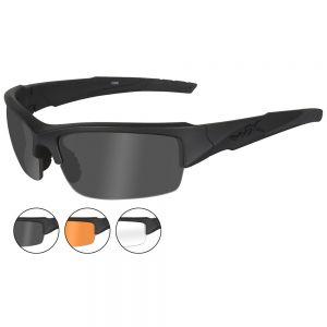 Wiley X occhiali WX Valor con lenti fumé grigie + lenti trasparenti + lenti ruggine chiaro e struttura in nero opaco