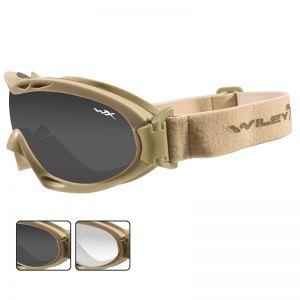 Wiley X occhiali protettivi Nerve con lenti grigie fumé + trasparenti e struttura in Tan