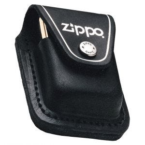 Zippo custodia per accendino Zippo con asola in nero